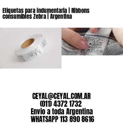 Etiquetas para indumentaria | Ribbons consumibles Zebra | Argentina