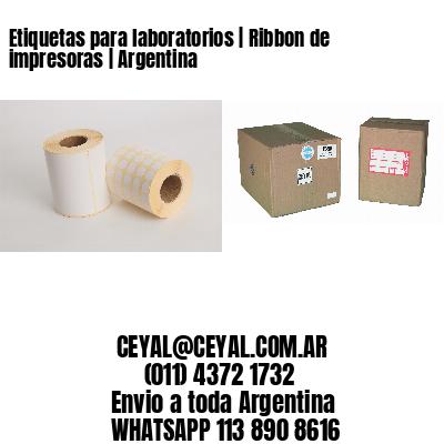 Etiquetas para laboratorios | Ribbon de impresoras | Argentina