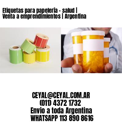 Etiquetas para papelería - salud | Venta a emprendimientos | Argentina