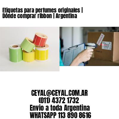 Etiquetas para perfumes originales | Dónde comprar ribbon | Argentina