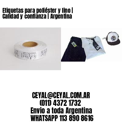 Etiquetas para poliéster y lino | Calidad y confianza | Argentina
