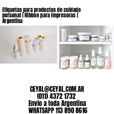Etiquetas para productos de cuidado personal | Ribbon para impresoras | Argentina