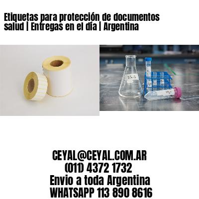 Etiquetas para protección de documentos salud | Entregas en el día | Argentina