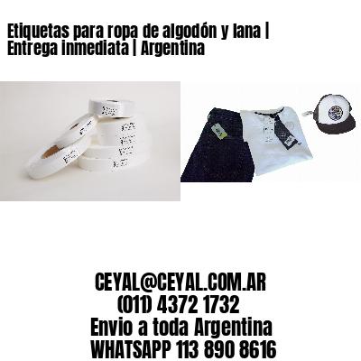 Etiquetas para ropa de algodón y lana | Entrega inmediata | Argentina
