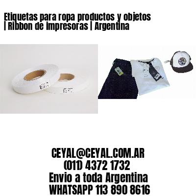 Etiquetas para ropa productos y objetos | Ribbon de impresoras | Argentina