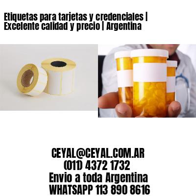 Etiquetas para tarjetas y credenciales | Excelente calidad y precio | Argentina