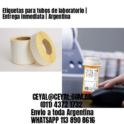 Etiquetas para tubos de laboratorio | Entrega inmediata | Argentina