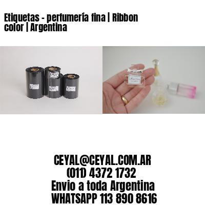 Etiquetas - perfumería fina | Ribbon color | Argentina