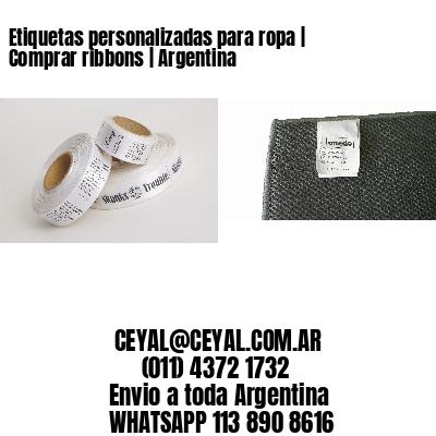 Etiquetas personalizadas para ropa   Comprar ribbons   Argentina