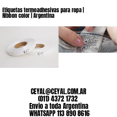 Etiquetas termoadhesivas para ropa | Ribbon color | Argentina