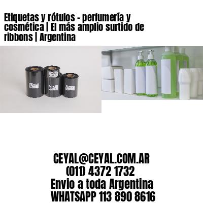 Etiquetas y rótulos - perfumería y cosmética | El más amplio surtido de ribbons | Argentina
