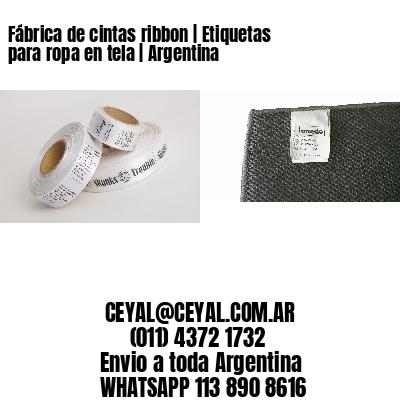 Fábrica de cintas ribbon | Etiquetas para ropa en tela | Argentina