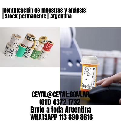 Identificación de muestras y análisis | Stock permanente | Argentina