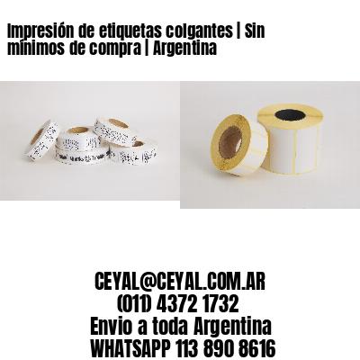 Impresión de etiquetas colgantes | Sin mínimos de compra | Argentina