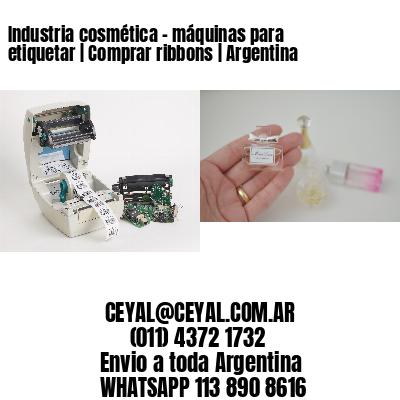 Industria cosmética - máquinas para etiquetar | Comprar ribbons | Argentina