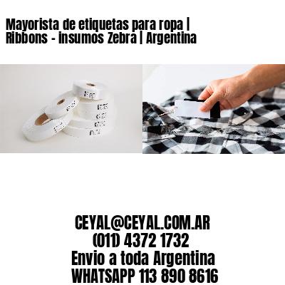 Mayorista de etiquetas para ropa   Ribbons - insumos Zebra   Argentina