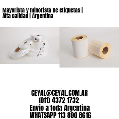 Mayorista y minorista de etiquetas | Alta calidad | Argentina