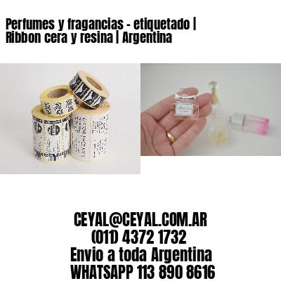 Perfumes y fragancias - etiquetado | Ribbon cera y resina | Argentina