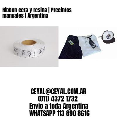 Ribbon cera y resina | Precintos manuales | Argentina
