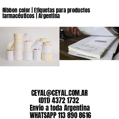 Ribbon color | Etiquetas para productos farmacéuticos | Argentina