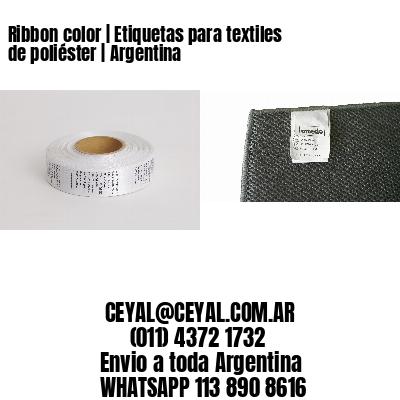 Ribbon color | Etiquetas para textiles de poliéster | Argentina