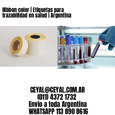 Ribbon color | Etiquetas para trazabilidad en salud | Argentina