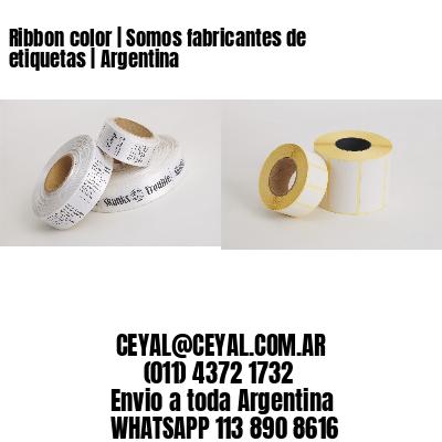Ribbon color | Somos fabricantes de etiquetas | Argentina