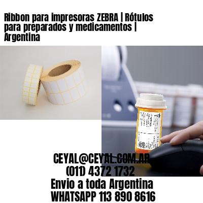 Ribbon para impresoras ZEBRA | Rótulos para preparados y medicamentos | Argentina