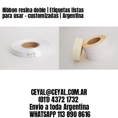 Ribbon resina doble | Etiquetas listas para usar – customizadas | Argentina