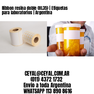 Ribbon resina doble (HL35) | Etiquetas para laboratorios | Argentina