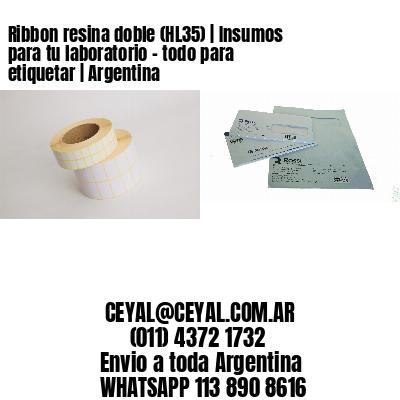 Ribbon resina doble (HL35) | Insumos para tu laboratorio - todo para etiquetar | Argentina