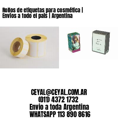 Rollos de etiquetas para cosmética   Envíos a todo el país   Argentina