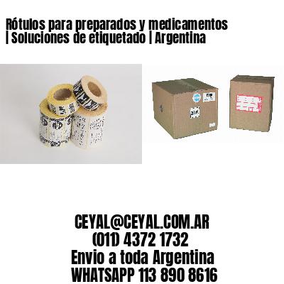 Rótulos para preparados y medicamentos | Soluciones de etiquetado | Argentina