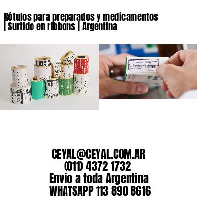 Rótulos para preparados y medicamentos | Surtido en ribbons | Argentina