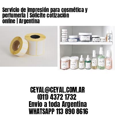 Servicio de impresión para cosmética y perfumería   Solicite cotización online   Argentina