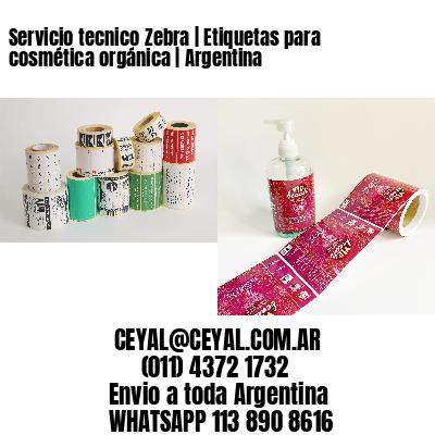 Servicio tecnico Zebra | Etiquetas para cosmética orgánica | Argentina