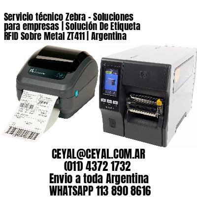 Servicio técnico Zebra - Soluciones para empresas | Solución De Etiqueta RFID Sobre Metal ZT411 | Argentina
