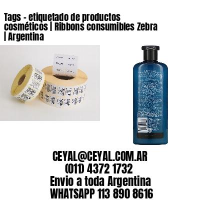 Tags - etiquetado de productos cosméticos | Ribbons consumibles Zebra | Argentina
