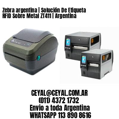 Zebra argentina | Solución De Etiqueta RFID Sobre Metal ZT411 | Argentina