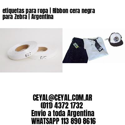 etiquetas para ropa | Ribbon cera negra para Zebra | Argentina