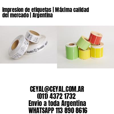 impresion de etiquetas | Máxima calidad del mercado | Argentina